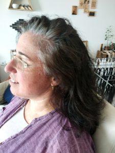 קליעת צמות עם תוספות שיער לפני