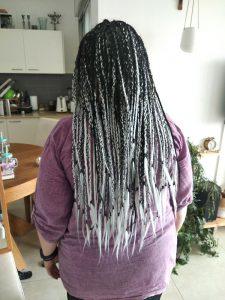 קליעת צמות עם תוספות שיער אחרי