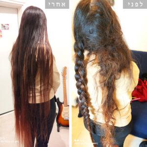התרת קשרים בשיער